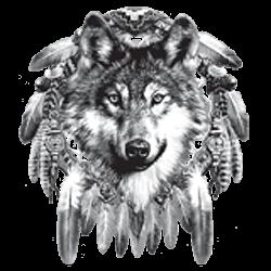 T shirt tête de loup