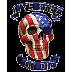 Débardeur homme live free or die