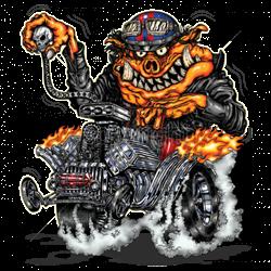 Sweat biker hot rod pig