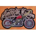 Patch, écusson american kustom, grand format