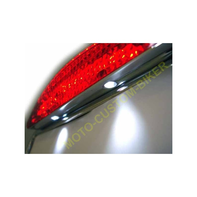 Support latéral plaque immatriculation Moto Noir ou chrome  AMT CUSTOM Shop
