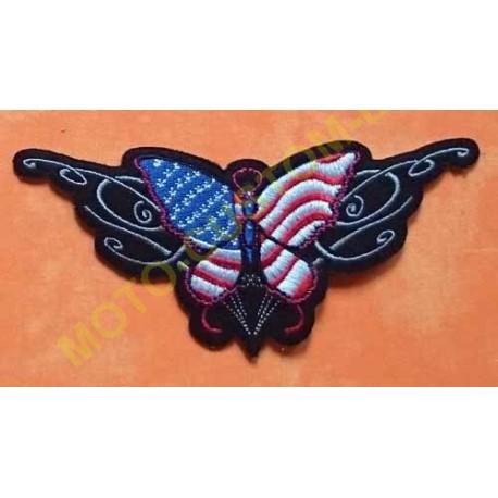 Patch, écusson papillon usa