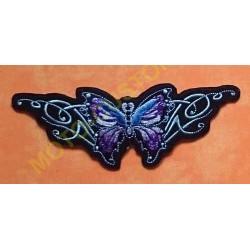 Patch, écusson papillon violet