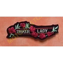 Patch, écusson triker lady