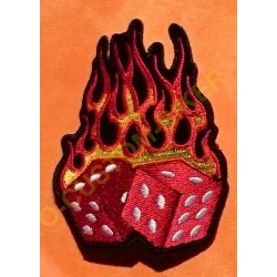 Patch, écusson dés flamming