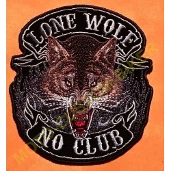 Patch, écusson lone wolf no club