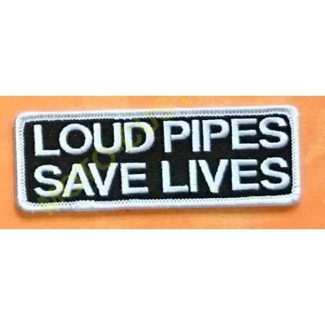 Patch, écusson loud pipes save lives