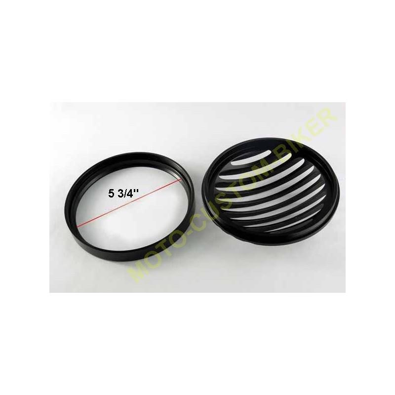 grille de phare rough crafts noir pour harley. Black Bedroom Furniture Sets. Home Design Ideas