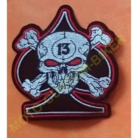 Patch, écusson as de pique 13