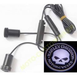 Projecteurs à leds de logos Harley skull
