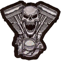Patch, écusson skull motor grand format