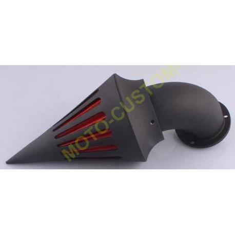 Filtre à air spike noir mat pour harley carburateur