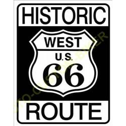 Plaque metal decorative historic route 66