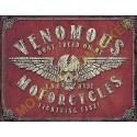 Plaque metal decorative venomous motorcycles