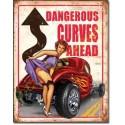 Plaque metal decorative dangerous curves