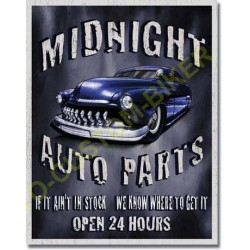 Plaque metal decorative minight garage