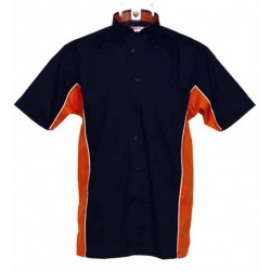 Chemisette biker noir, orange.