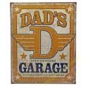 Plaque metal decorative dad garage