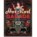 Plaque metal decorative hot rod garage piston