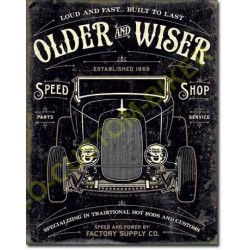 Plaque metal decorative older wiser