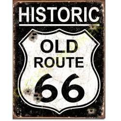 Plaque metal decorative old route 66