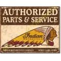 Plaque metal decorative authorized indian