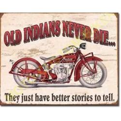 Plaque metal decorative indian better stories