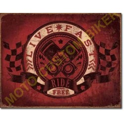 Plaque metal decorative ride free