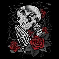 Sweat capuche zippé femme thorn roses pray