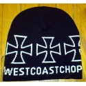 Bonnet biker west coast chopper noir