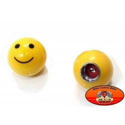 Bouchons de valves moto smiley