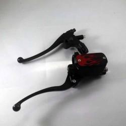Kit complet frein maîtres cylindres et embrayage noir flammes rouge