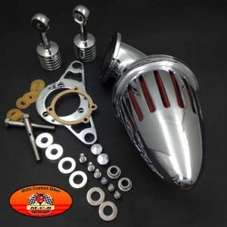 Filtre à air obus chromé pour Harley injection EFI, Road Glide Road King Rocker Cross Bones