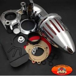 Filtre à air obus chromé pour Harley 2008-2012 Dyna Electra Glide FLHX Touring