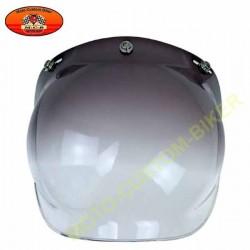 Visière bulle noir dégradée pour casque jet
