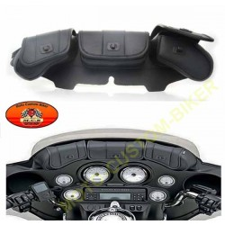 Bagage moto, sacoches pare brise 3 grandes poches pour road king, FLH et custom