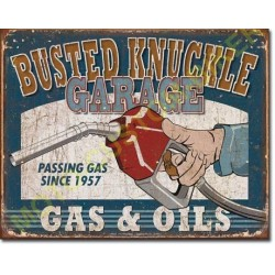 Plaque metal decorative Busted Knuckle.