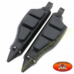 Repose pieds moto Domed stiletto noir
