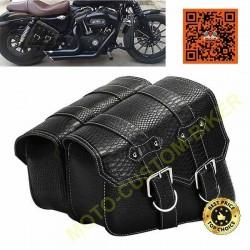 Paire de sacoches Buffalo droite et gauche pour Harley et custom