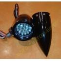 Clignotants moto comet noir à leds