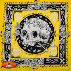 Bandana yellow skull