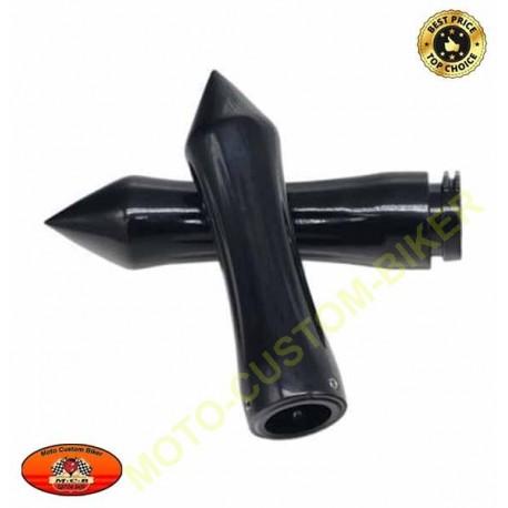 Poignées moto torpedo noir
