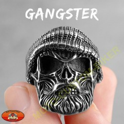 Bague biker gangster
