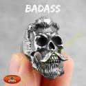 Bague biker badass