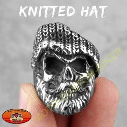 Bague biker knitted