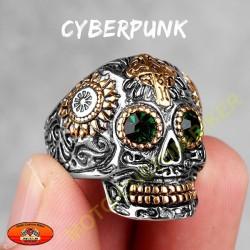 Bague biker cyberpunk