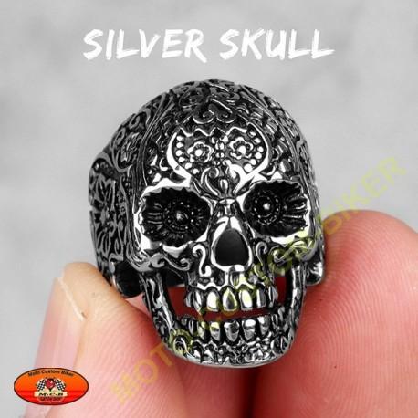 Bague biker sylver skull