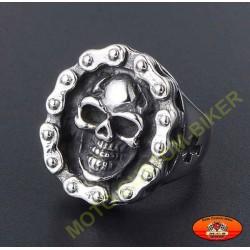 Bague biker skull