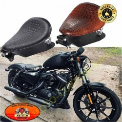 Selle custom alligator. Kit complet pour custom japonais et Harley