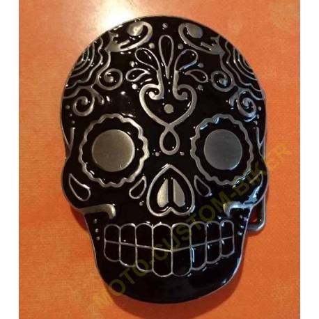 Boucle de ceinture dia de los muertos ou sugar skull